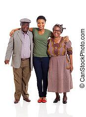 vidám család, afrikai