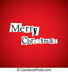 vidám, vektor, -, karácsony, ábra