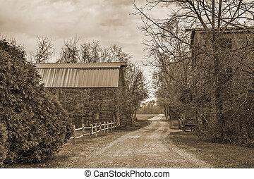 vidéki út, ország