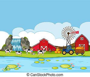 vidéki parkosít, farmland