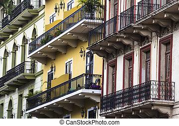viejo, város, panama, casco