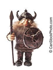 viking, fehér, szobrocska, elszigetelt