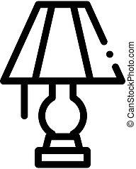 világítás, ikon, áttekintés, lámpa, ábra, elektromos