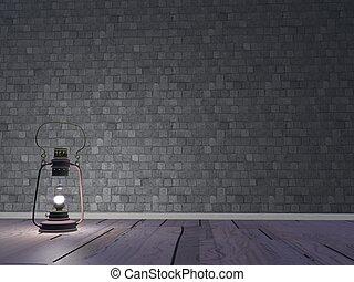 világító, -, render, 3