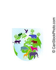 világ, állatkert