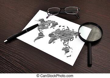 világ, dolgozat, térkép