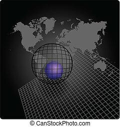 világ, elvont, háttér, térkép