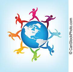 világ, emberek, mindenfelé, az amerikai köztársaságok