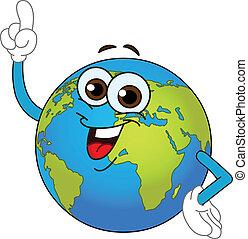világ földgolyó, karikatúra