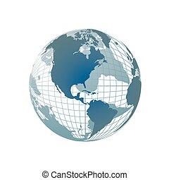 világ földgolyó, térkép, 3
