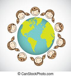világ, gyerekek, mindenfelé