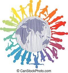 világ, gyerekek, színes