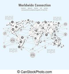 világ-, hálózat, connection.