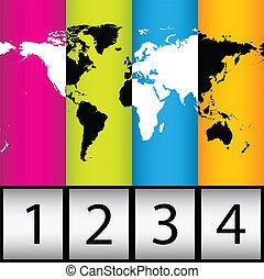 világ, különleges, háttér, térkép