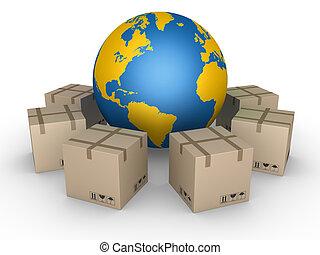 világ, minden, eloszlatás, felett, csomag