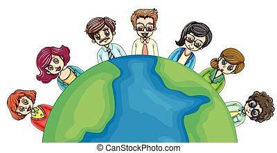 világ, mindenfelé, ügy emberek