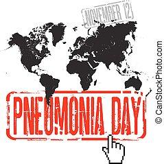 világ, nap, pneumonia