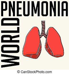 világ, pneumonia, nap