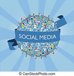 világ, társadalmi, hálózat, média