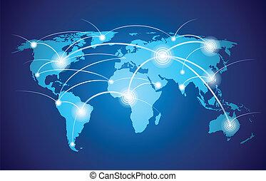 világ, teljes hálózat, térkép