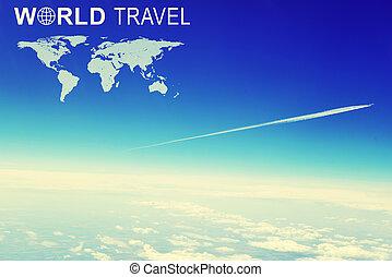 világ utazik, fejes