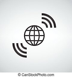 világ-, wifi, világ, broadband, jelkép, access., wireless internet, földdel feltölt