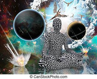 világegyetem, élet, egyensúly