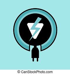 villamos energia, ikon