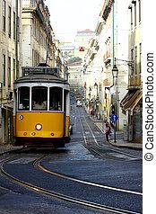 villamos, lisszabon, 28, portugália