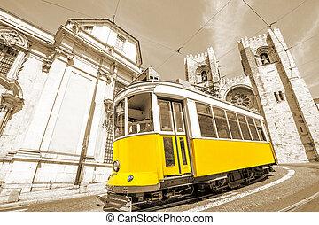 villamos, sárga, lisszabon