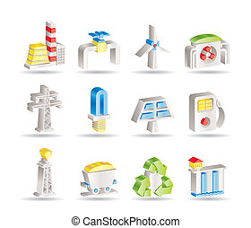 villanyáram, iparág, erő