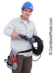 villanyszerelő, előkészítő, kábel