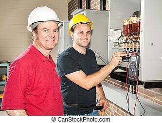 villanyszerelő, képzés