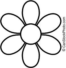 virág, áttekintés, kivirul, clipart., vektor, icon., illustration.