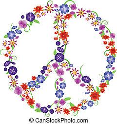 virág, béke cégtábla