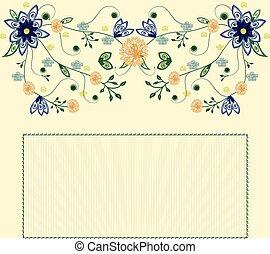 virág, eredet, ábra