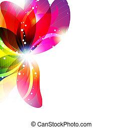 virág, háttér, elvont