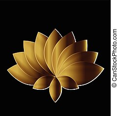 virág, művészet, arany, lótusz, jelkép, jel