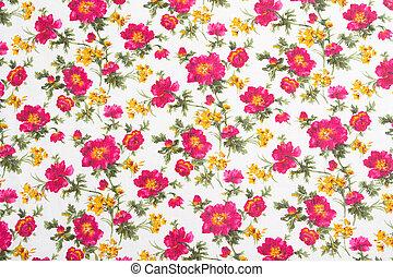 virág példa, bouquet., seamless, cloth., virágos