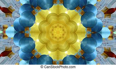 virág példa, elvont, dinamikus, geometriai, kaleidoszkóp