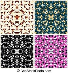 virág, színes, elvont, gyűjtés, szirom, vektor, ábra