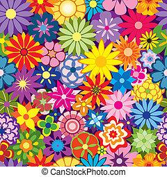 virág, színes, háttér