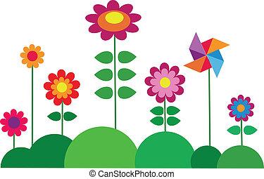 virág, tavasz, színes