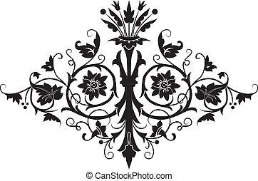 virág, tervezés, elem
