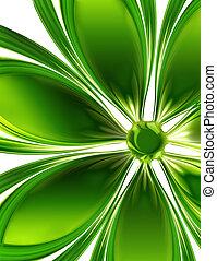 virág, zöld
