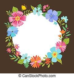 virágos, design., koszorú, eredet