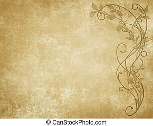virágos, dolgozat, vagy, pergament