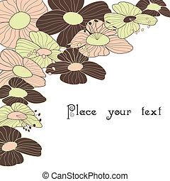 virágos, eredet, keret, nyár