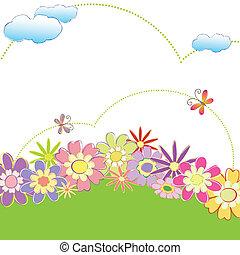 virágos, eredet, lepke, színes