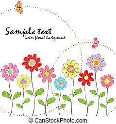 virágos, eredet, nyár, színes, butte